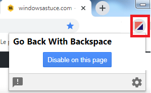 activer Retour Arrière (Backspace)