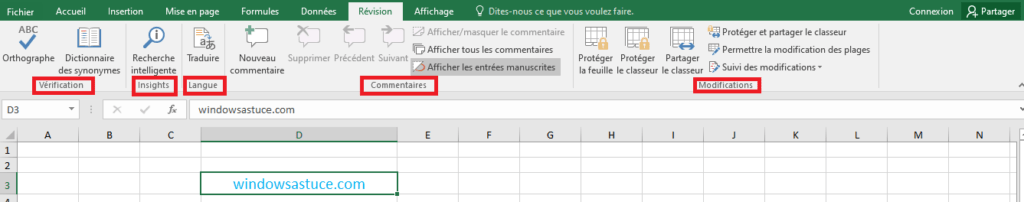Révision Excel