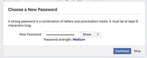 nouveau mot de passe