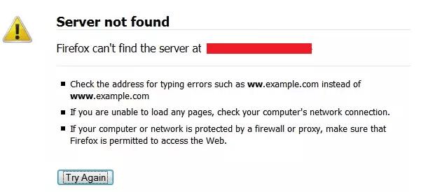 Serveur introuvable – Firefox ne peut pas trouver le serveur