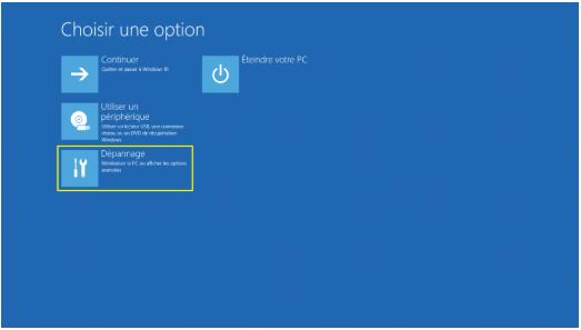 windows 10 démarrer en mode sans echec