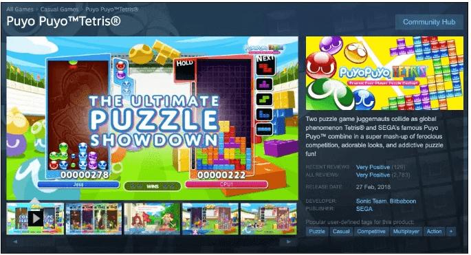 Puyo Puyo Tetris (Windows et Console)