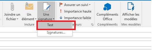 Utilisation de votre signature dans Outlook