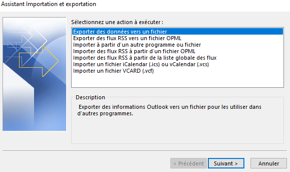 Importer des contacts Gmail dans Outlook