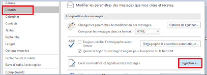 signature dans Outlook pour Windows