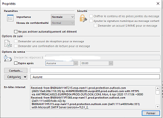 tracer une adresse mail Outlook