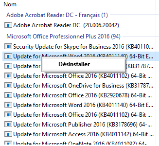 Masquer les mises à jour Windows
