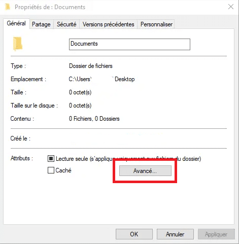 mettre un mot de passe sur un dossier