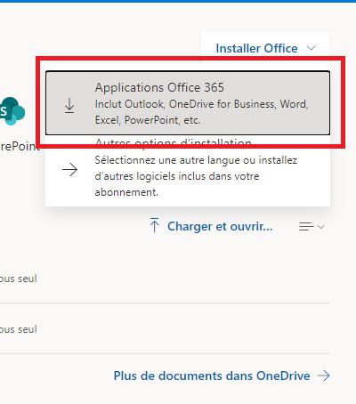 Télécharger Office 365