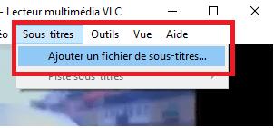Sous-titres VLC non affichés