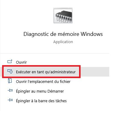 werfault exe Diagnostics de la mémoire Windows