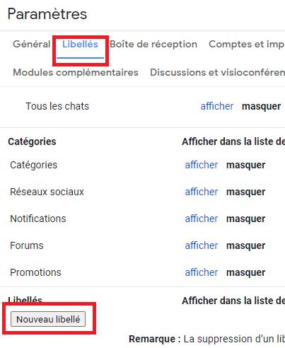 créer un dossier dans gmail