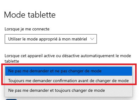 tablette windows 10