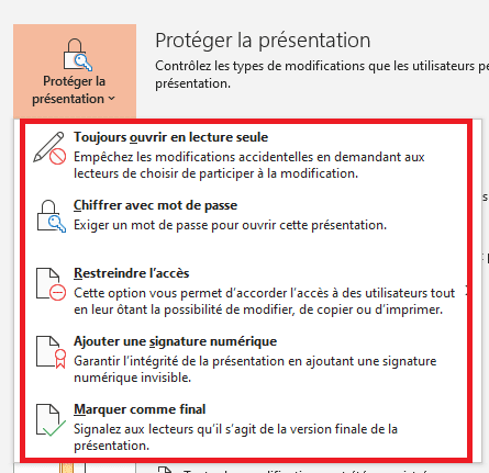 PowerPoint lecture seule
